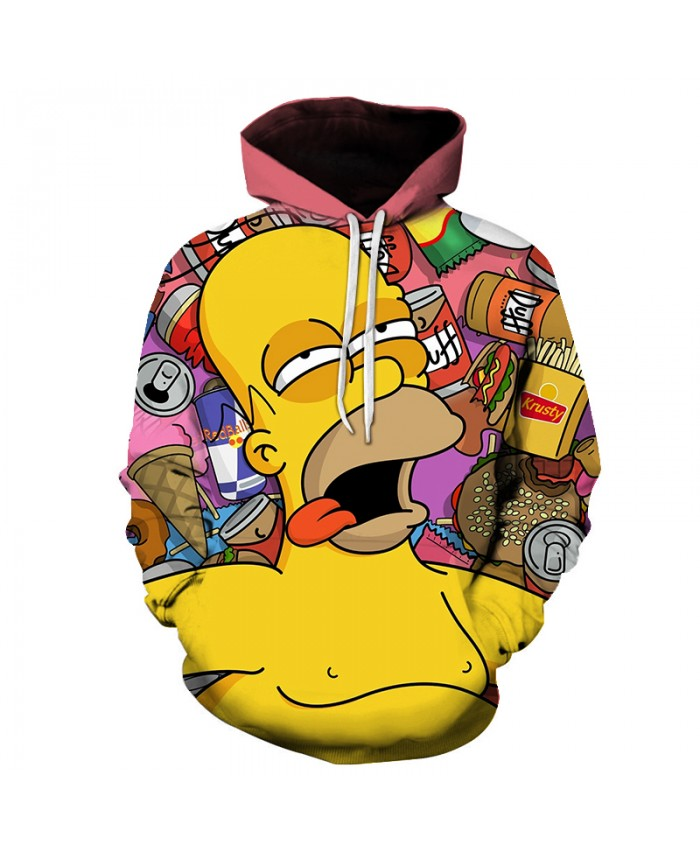 The Simpsons Printed 3D Men Women Hoodies Sweatshirts Quality Hooded Jacket Novelty Streetwear Fashion Casual Pullover GG