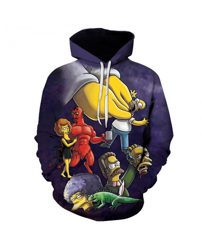 The Simpsons Printed 3D Men Women Hoodies Sweatshirts Quality Hooded Jacket Novelty Streetwear Fashion Casual Pullover H