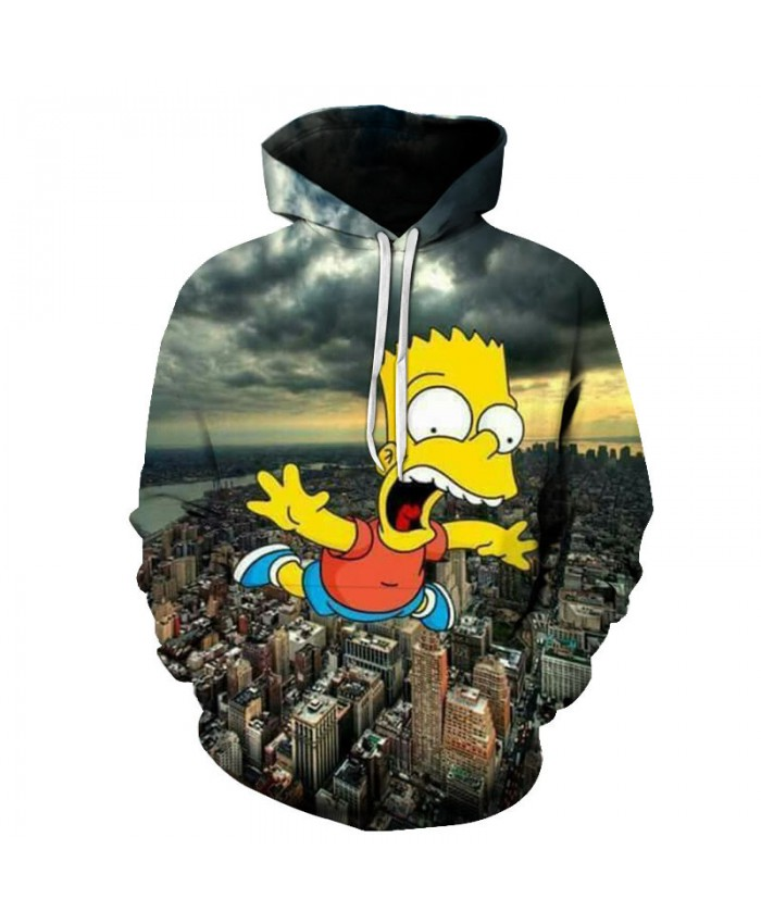 The Simpsons Printed 3D Men Women Hoodies Sweatshirts Quality Hooded Jacket Novelty Streetwear Fashion Casual Pullover M