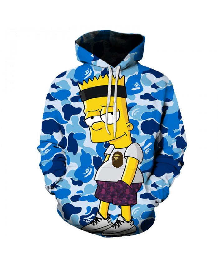 The Simpsons Printed 3D Men Women Hoodies Sweatshirts Quality Hooded Jacket Novelty Streetwear Fashion Casual Pullover P