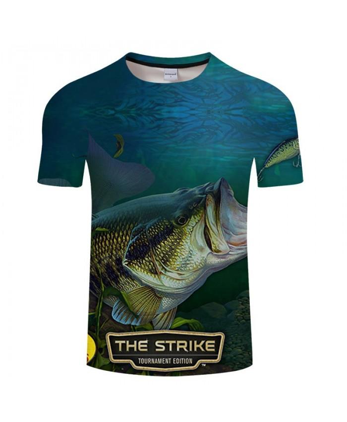 The Strick Fish 3D Print T Shirt Men tshirt Summer Casual Slim 2021 New Short Sleeve O-neck Tops&Tee Drop Ship