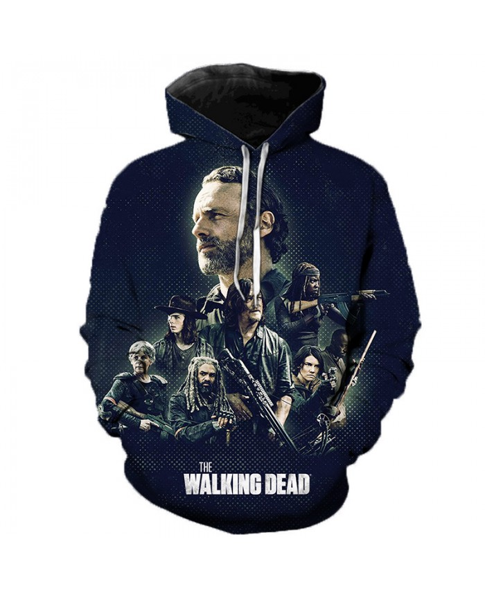 The Walking Dead 3D Printed Hooded Sweatshirts Horror TV Drama Casual Pullover Men Women Fashion Streetwear Oversized Hoodies