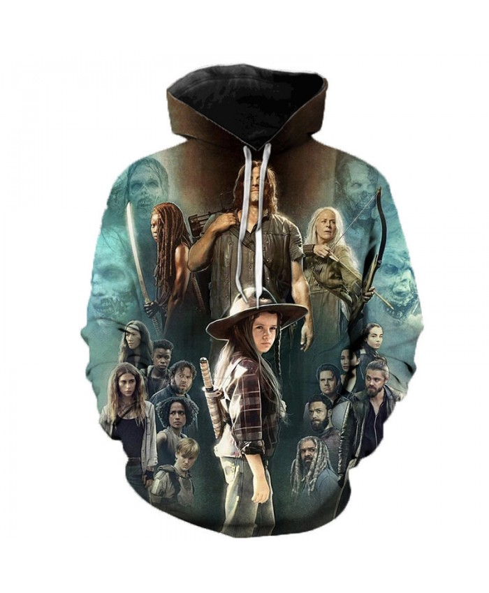 The Walking Dead 3D Printed Hoodie Sweatshirts 2021 TV Drama Fashion Casual Pullover Halloween Streetwear Hoodies