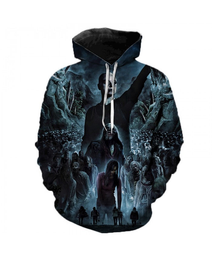 The Walking Dead 3D Printed Hoodie Sweatshirts 2019 TV Drama Fashion Casual Pullover Men Women Halloween Streetwear Hoodies