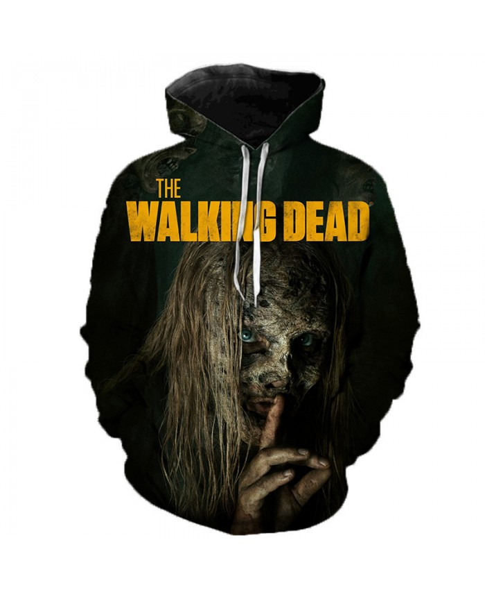 The Walking Dead 3D Printed Hoodie Sweatshirts Horror TV Drama Casual Pullover Men Women Halloween Streetwear Oversized Hoodies