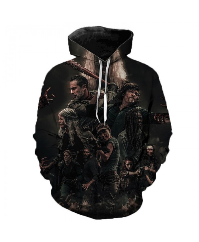 The Walking Dead Sweatshirts Men Pocket Hooded Pullover Unisex Autumn Winter 3D Printed Casual Harajuku Coats Streetwear Hoodies