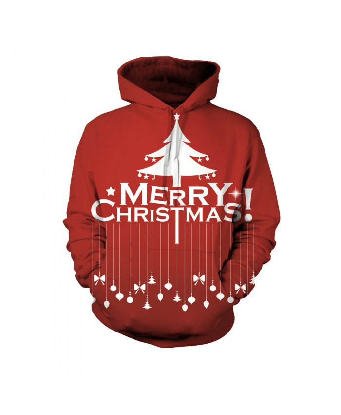 The pattern of the merry letter of Christmas Funny Fashion Christmas Hoodie Sweatshirt