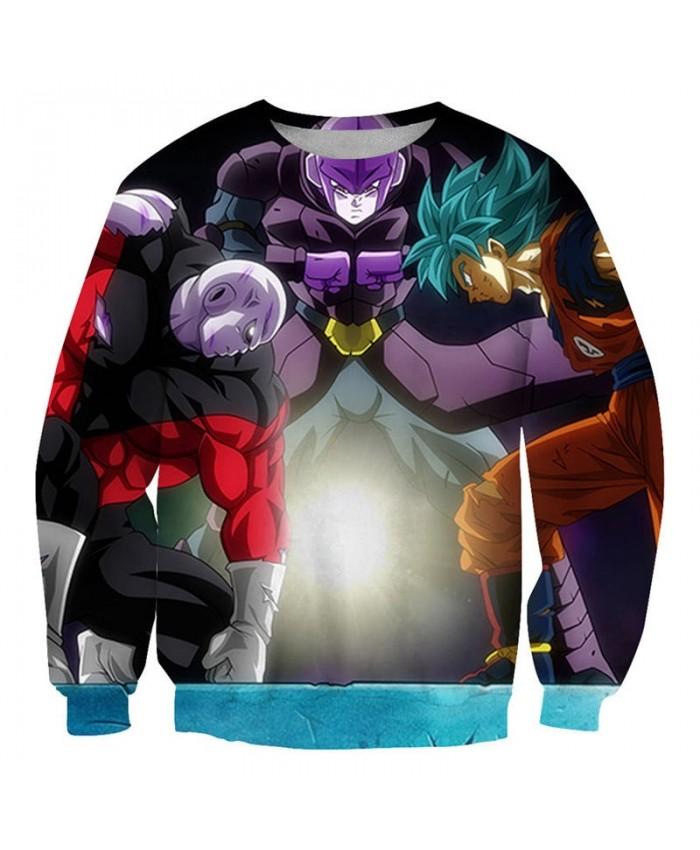 Three People Confrontation Dragon Ball 3D Mens No Cap Pullover Sweatshirt Pullover Casual Men Streetwear Sweatshirt