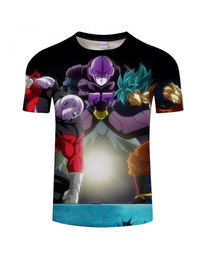 Three People Confrontation Dragon Ball 3D Print tshirt Men tshirt Summer Casual Short Sleeve Male O-neck Drop Ship