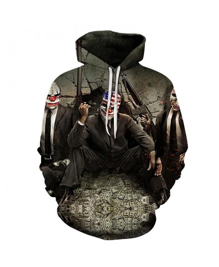 Three clowns mens hoodies Pullover Sweatshirt Tracksuits Hoodie Sportsuit Streatwear Sweatshirt Fashion Men Hoodies