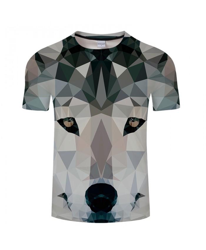 Three-dimensional Wolf 3D Print t shirt Men tshirt Summer Funny Short Sleeve O-neck Tops&Tees Streetwear Drop Ship