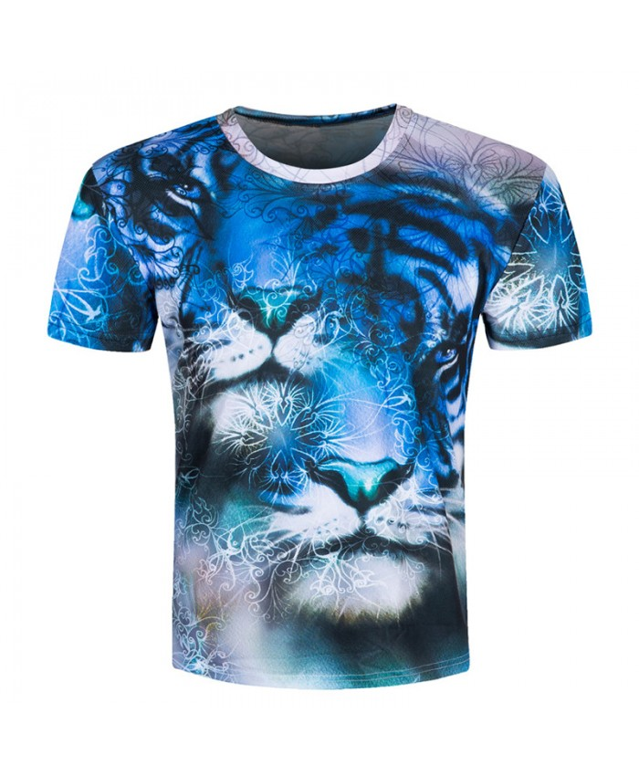Tiger Animal 3d Printed Men T shirt Funny Tops Brand Clothing Summer Style Male Round Neck Casual palace Hip Hop Top