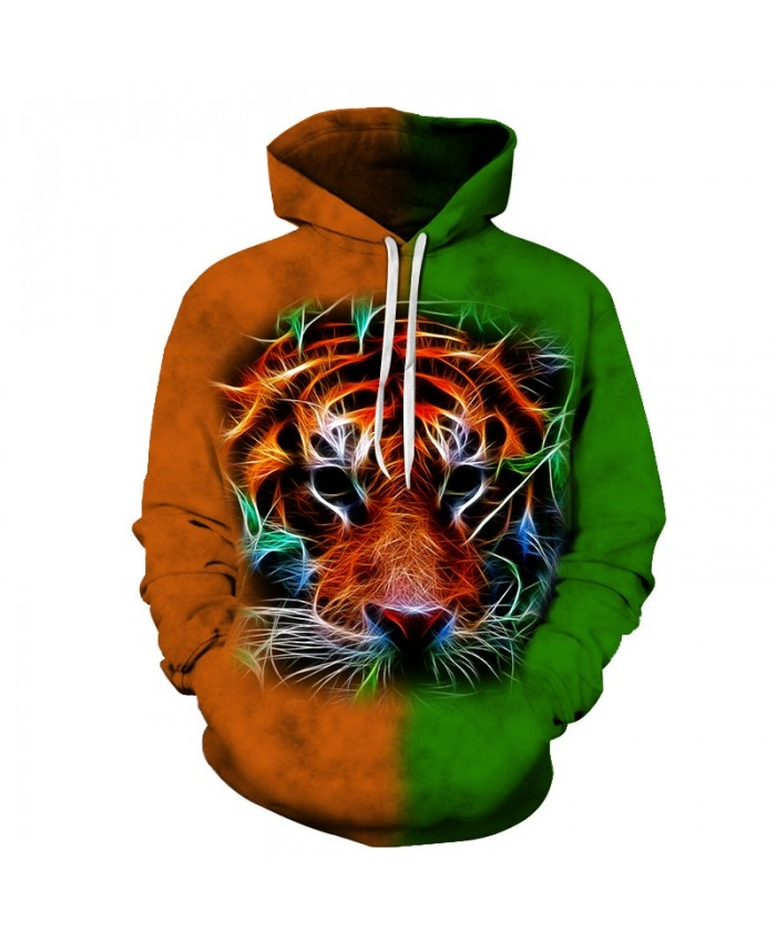 Tiger Brand Hoodies Sweatshirts Men Women Tracksuits 3d Printing Pullover Funny Coat Streetwear Hoodie Hot Drop Ship