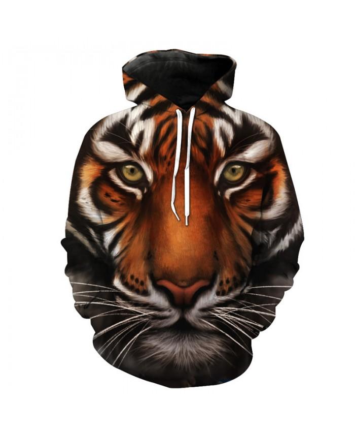 Tiger Style Fashion Hoodies Fall Hooded Sweatshirt Casual Hoodie Autumn Tracksuit Pullover Hooded Sweatshirt