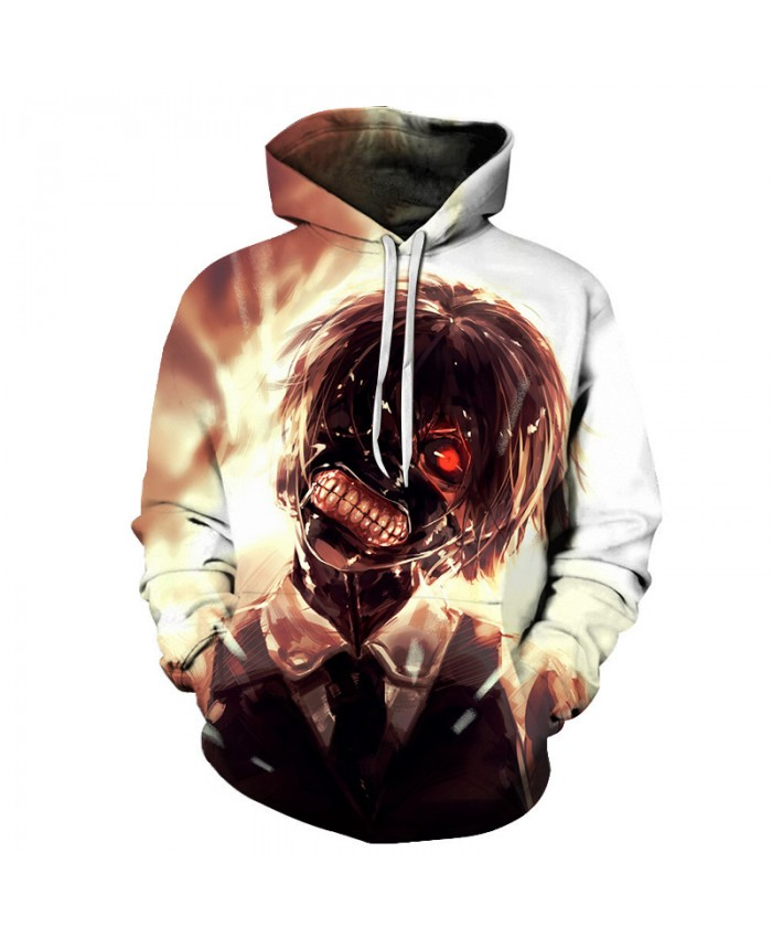 Tokyo Ghoul 3D Hoodie Sweatshirt Men Women Fashion Hip Hop Hoody Halloween Tops Casual Anime Sportswear Boy Harajuku Hoodies