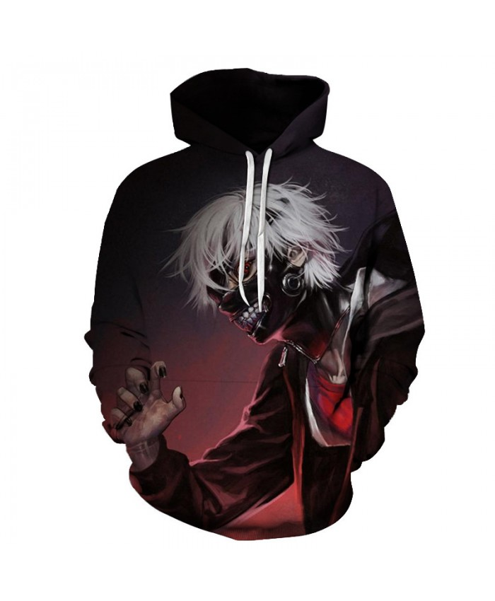 Tokyo Ghoul 3D Hoodies Halloween Clothing Cool Men Women Sweatshirts Hipster Hoody Unisex Loose Pullovers Funny Classic Tops