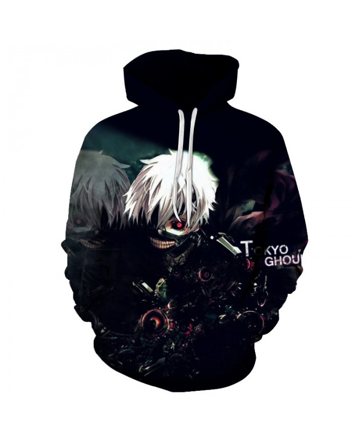 Tokyo Ghoul 3D Printed Hoodies Men Women Sweatshirts Hooded Pullover Brand Qaulity Tracksuits Boy Coats Fashion Outwear 2019 New