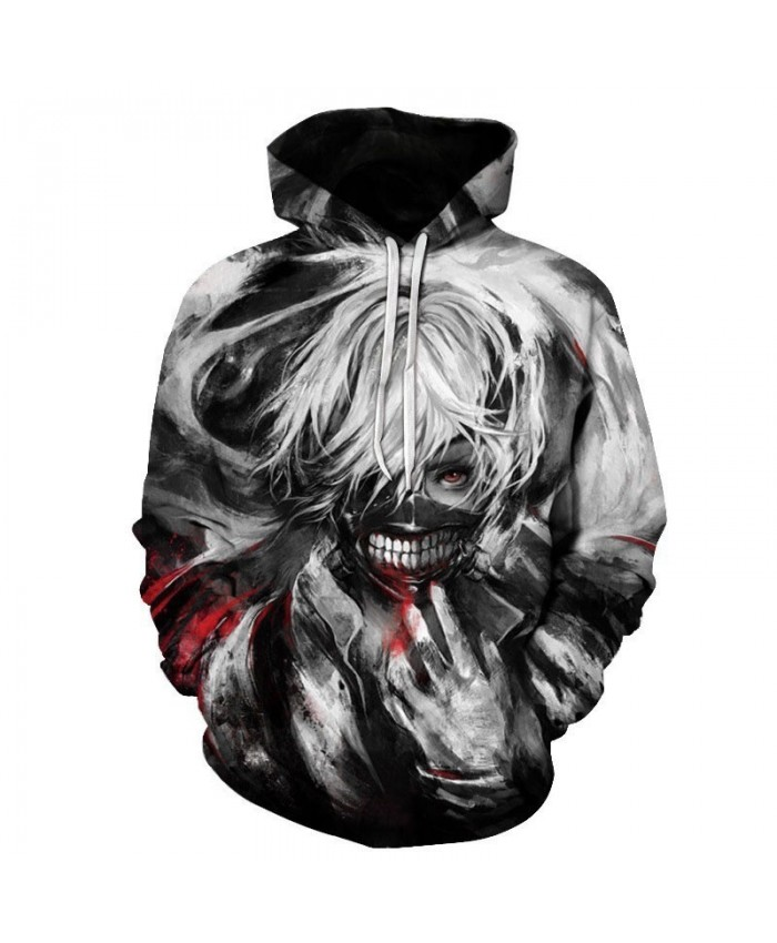 Tokyo Ghoul Hoodies Anime 3D Hooded Sweatshirts Newest Kids Teens Fashion Cosplay Hoodies Outerwear Spring Cool Coat A