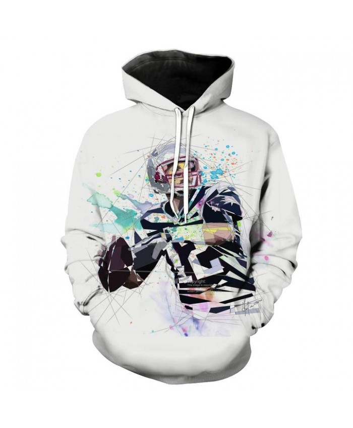 Tom Brady Hoodie White Tom Brady Clothing Football Hooded Sweatshirt Autumn Men Women Casual Pullover Sportswear