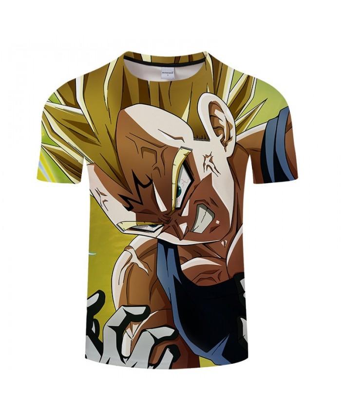 Tooth Decay Cartoon Goku Dragon Ball 3D Print Men tshirt Anime Casual Short Sleeve Male Quick Dry O-neck Drop Ship