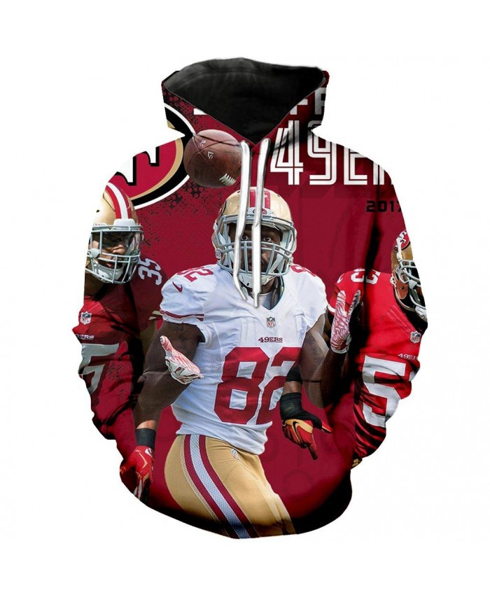 Torrey Smith San Francisco 49ers 3D Hoodie NFL San Francisco 49ers Apparel Sweatshirt Streetwear