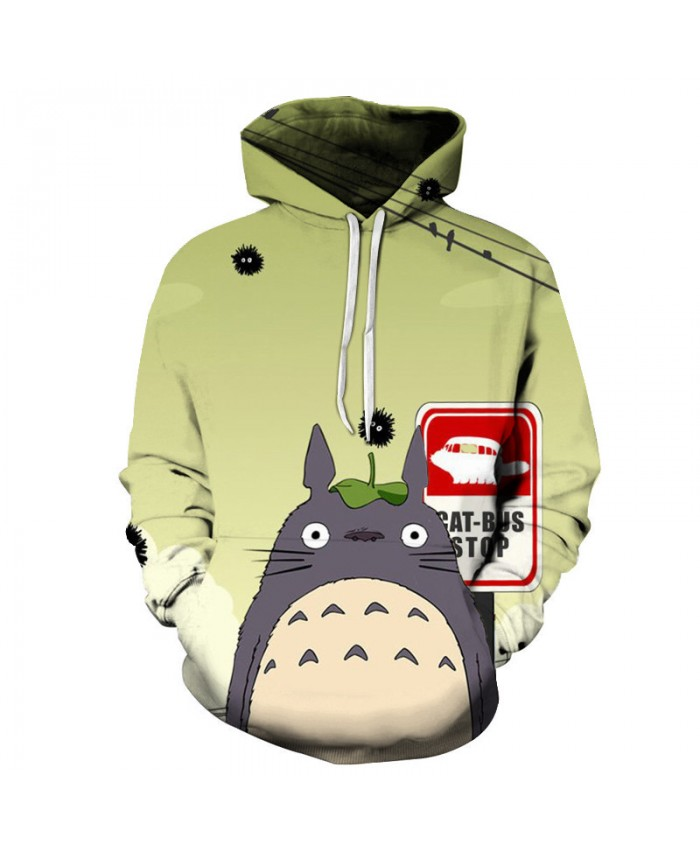Totoro Hoodies 3D Unisex Hoodies Men Sweatshirts Brand Hoodies Drop Ship Spring Autumn Pullover Fashion Tracksuits