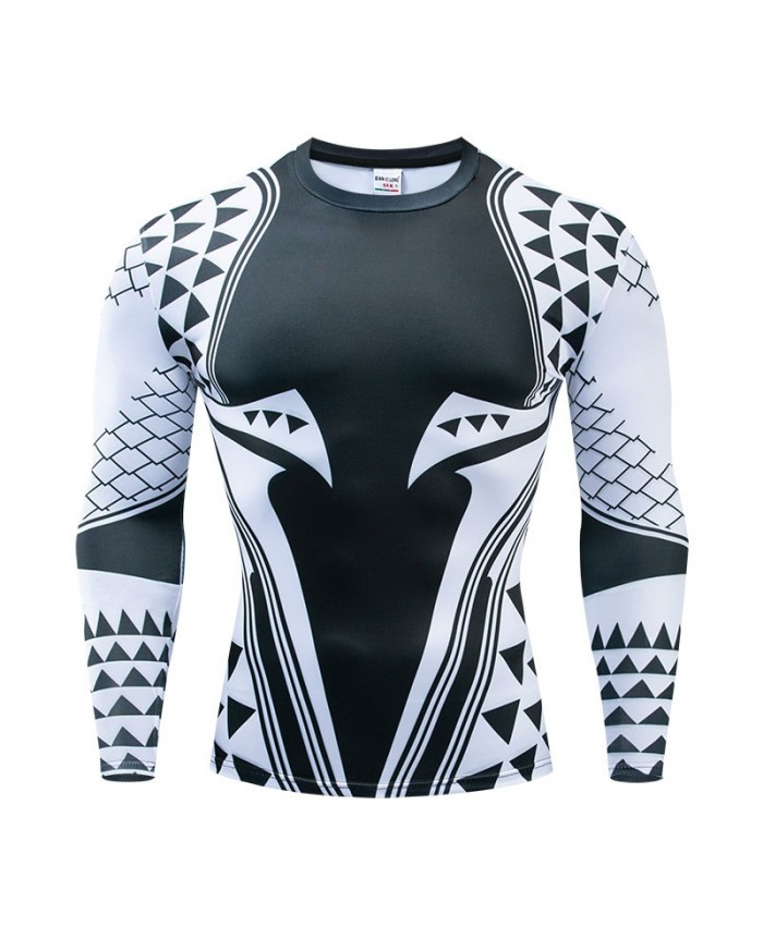 Triangle The Avengers 4 Long Sleeve Men Fashion Fitness Compression Bodybuilding Long Sleeve Tops Marvel Tee Brand