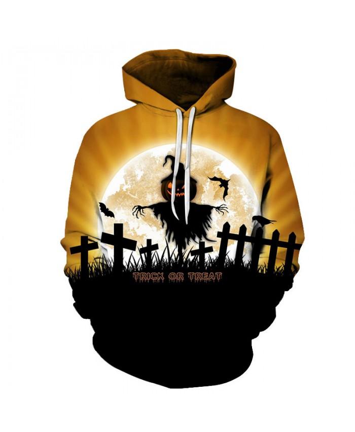 Trick or Treat 3D Print Hoodies Men Hoody Harajuku Hoodie Streatwear Sweatshirt Tracksuit Pullover Hip Hop Dropship