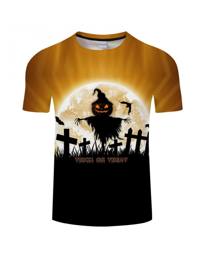 Trick or Treat 3D Print T shirts Men T-shirts Brand Top Tees Streetwear Summer Short Sleeve tshirt O-neck Drop Ship