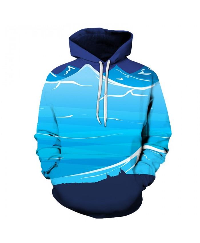 Turquoise Sea Rick And Morty 3D Print Men Pullover Sweatshirt Mens Custom Pullover Hoodie Streetwear Sweatshirt