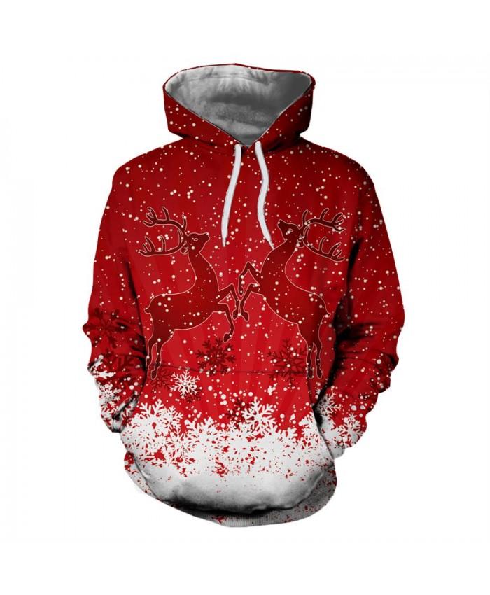Two Fawns Christmas Christmas Hoodies 3d Sweatshirts Men Women Hoodie Print Couple Tracksuit Hooded Hoody Clothing