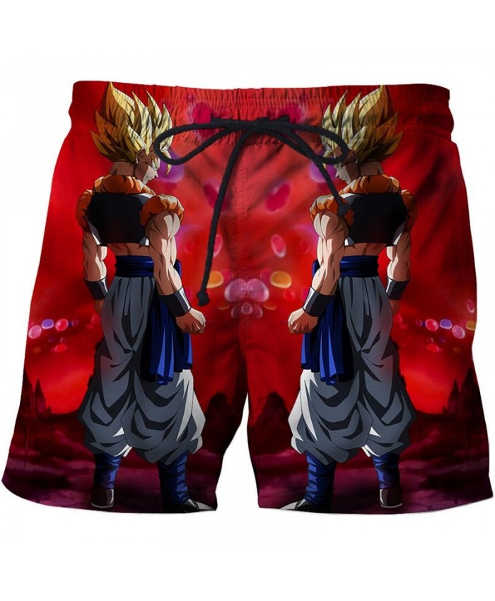 Two Identical People Dragon Ball Men Anime 3D Stone Printed Beach Shorts Casual Summer Male Quick Dry Board Shorts