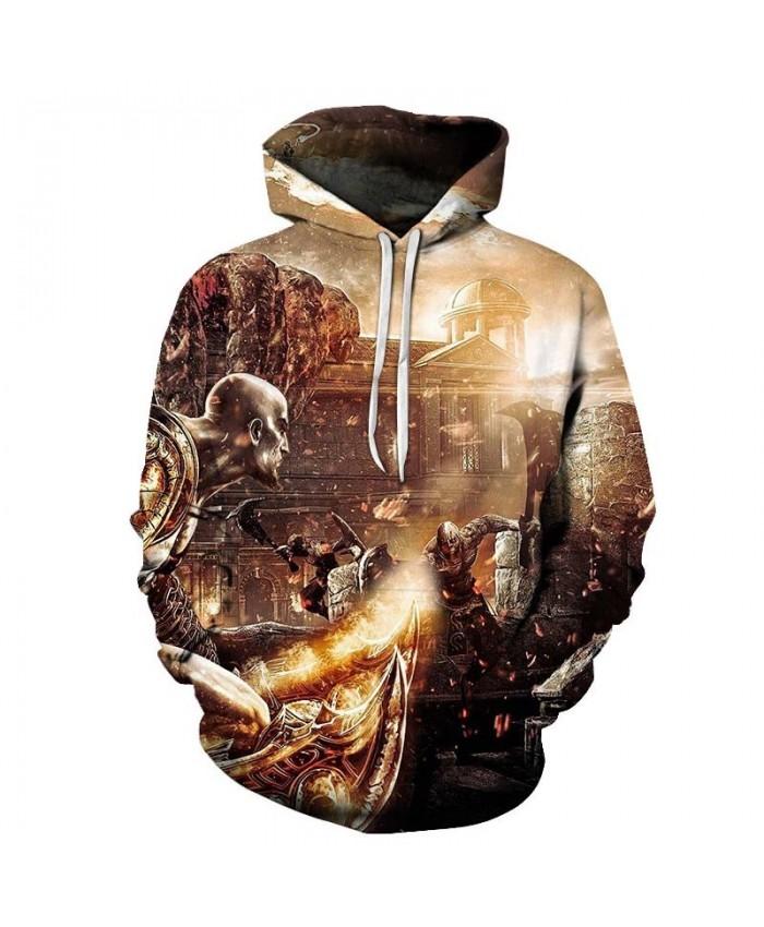Two People Duel Hoody Mens Mens Pullover Sweatshirt Pullover Hoodie 2021 Streatwear Sweatshirt Fashion Men