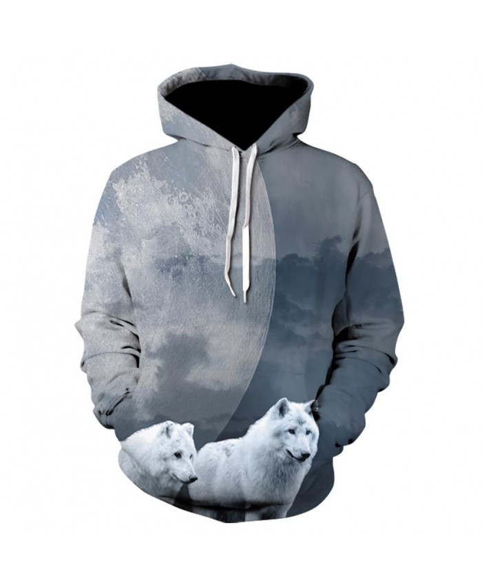 Two Wolves Hoodies Hoodie Men/Women Hip Hop Autumn Winter Hoody Tops Casual Brand 3D Wolf Hoodie Sweatshirt Dropship