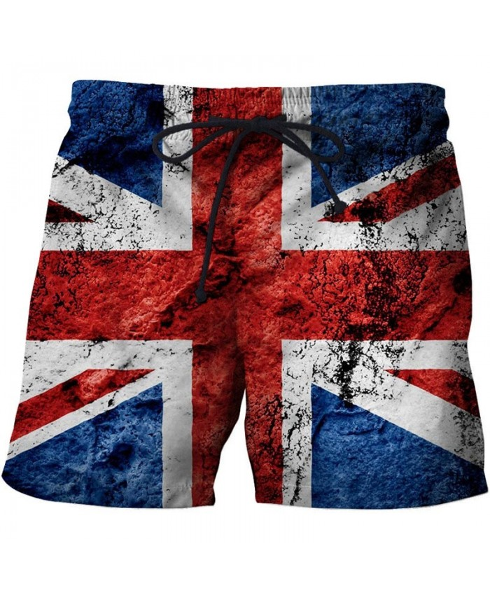 UK Flag Men 3D Print Beach Shorts Summer Male Quick Dry Breathable Watersport UK Flag Casual Summer Board Shorts