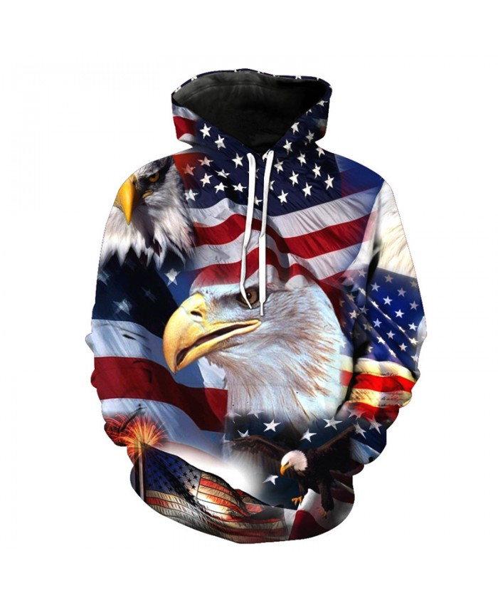 US Flag Eagle Fashion Hoodies American Style Hooded Sweatshirt Pullover Casual Hoodie Autumn Tracksuit Pullover Hooded Sweatshirt
