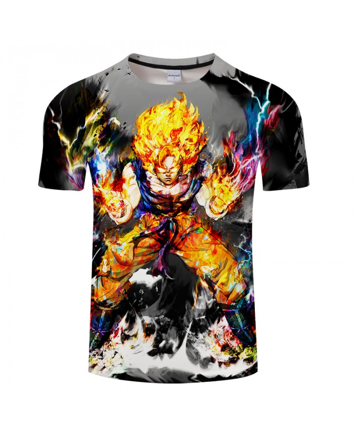 Ultra Energy 3D Print T shirt Men Summer Anime Short Sleeve Top&Tee Boy Tshirt Dragon Ball Streetwear Women Drop Ship