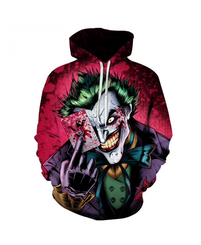 Unisex Hoodies Sweatshirts 3D Joker Poker Printed Funny Hoodie Hip HOP Novelty Streetwear Hooded Autumn Jackets Mens Tracksuits