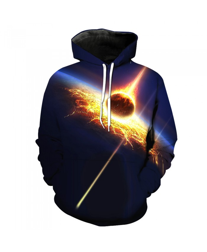 Universe Galaxy Starry sky Earth 3D Print Fashion Hooded Sweatshirt Men and Women Sportswear