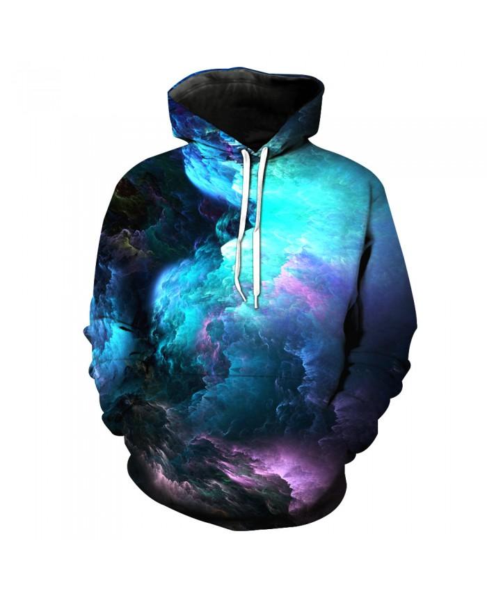 Universe Galaxy Starry sky Earth 3D Print Fashion Hooded Sweatshirt Men and Women Sportswear B