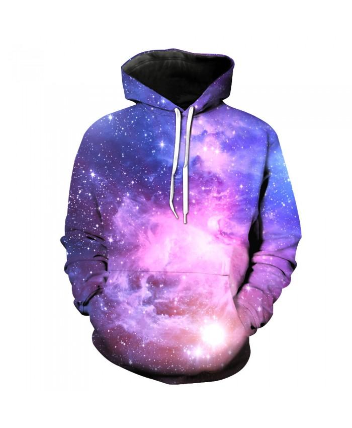 Universe Galaxy Starry sky Earth 3D Print Fashion Hooded Sweatshirt Men and Women Sportswear D