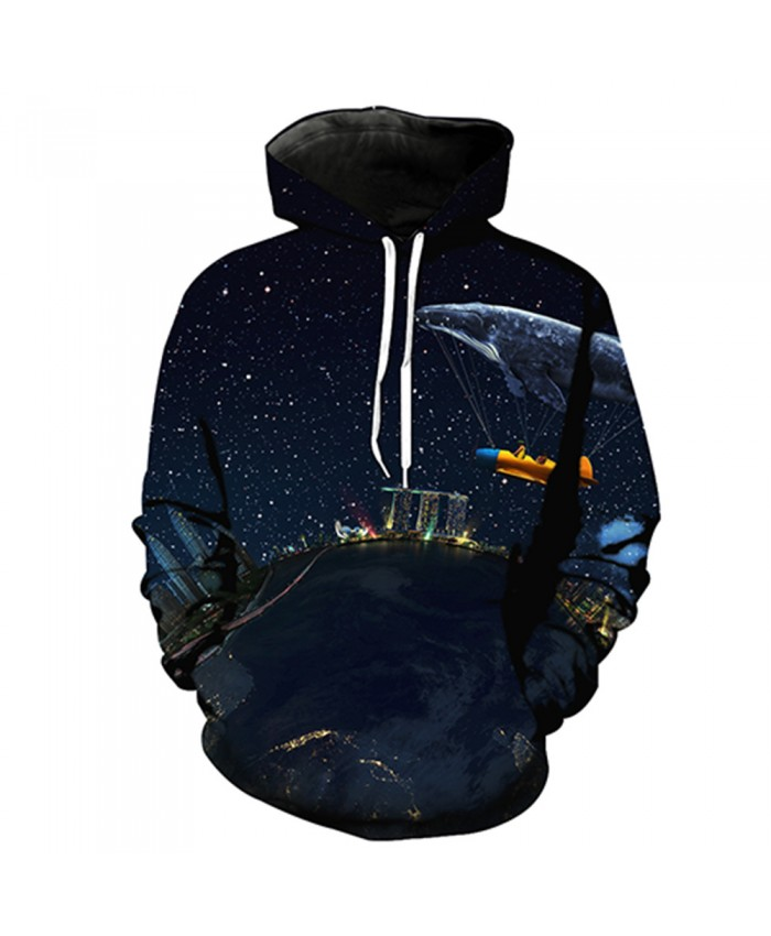 Universe Galaxy Starry sky Earth 3D Print Fashion Hooded Sweatshirt Men and Women Sportswear J