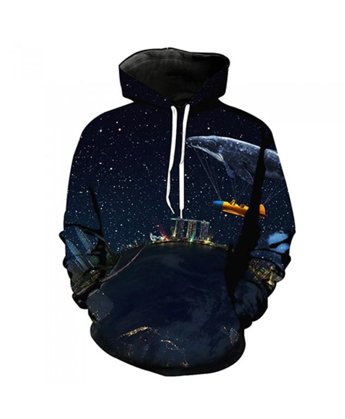 Universe Galaxy Starry sky Earth 3D Print Fashion Hooded Sweatshirt Men and Women Sportswear J