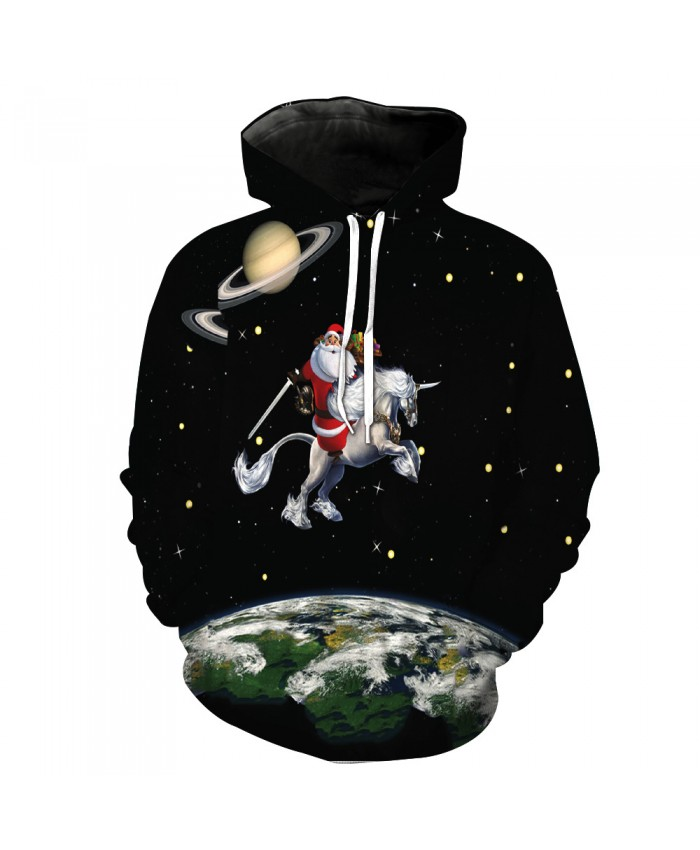 Universe Galaxy Starry sky Earth 3D Print Fashion Hooded Sweatshirt Men and Women Sportswear L