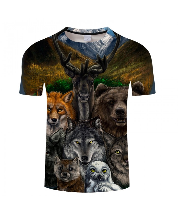 Varied Animal Digital Print 3D t shirt Men Women Casual shirt 2021 Summer O-neck Short Sleeve Tops Tees Drop Ship