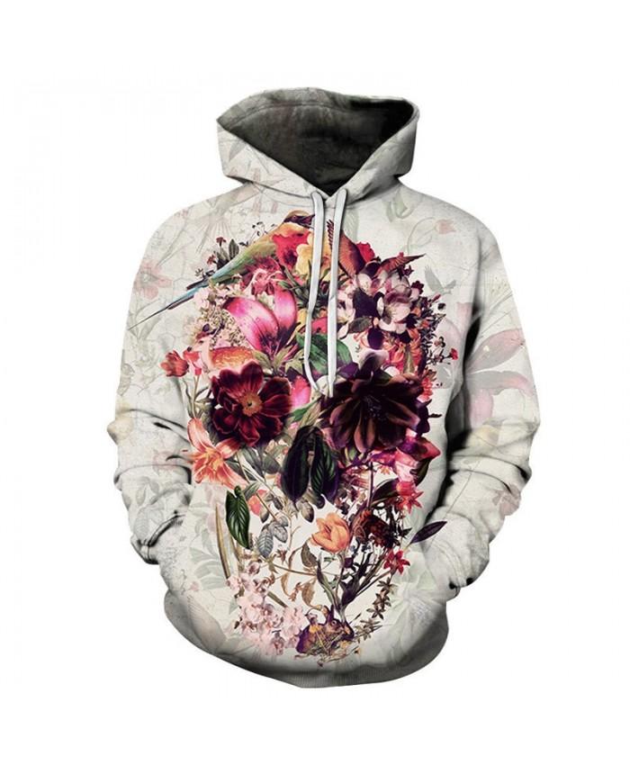 Variety Of Flowers By ALI Artist Unisex Hoodie 3D Print Sweatshirts Pullover Harajuku Mens Hoody Casual Autumn Male Streetwear