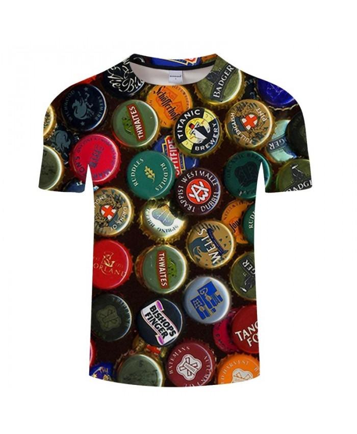 Various Beer Covers Beer 3D Print Men tshirt Crossfit Shirt Casual Summer Short Sleeve Male tshirt Brand Men O-neck