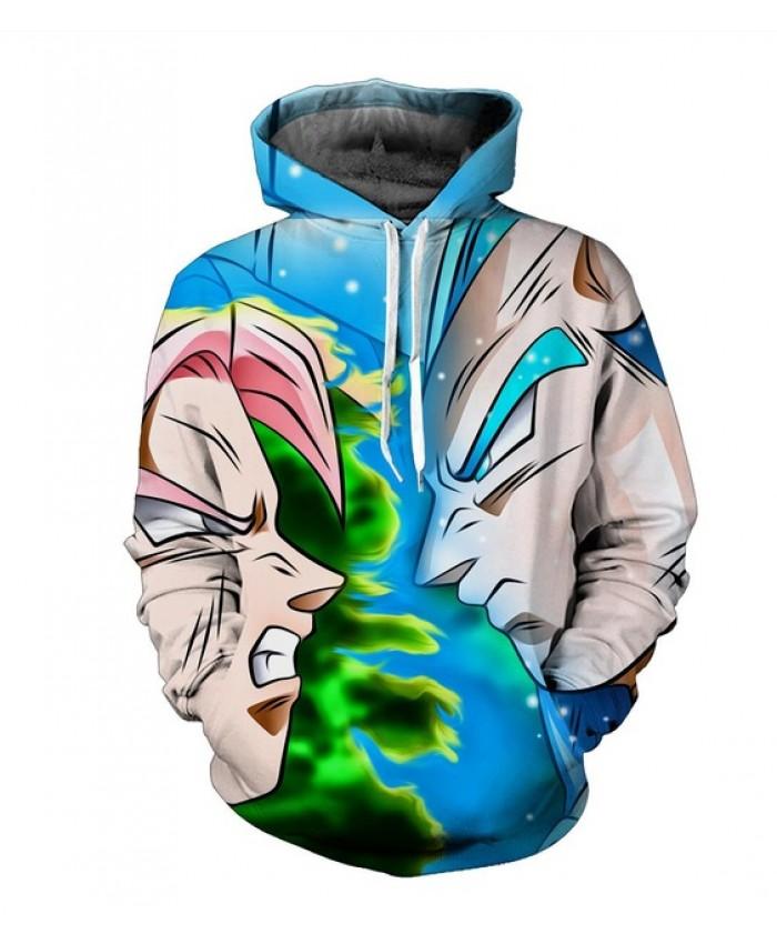 Vegetto Dragon Ball Z Hoodies 3d Pullovers Sportswear Hooded Sweatshirts Mens Sleeve Son Goku Hoode Dragon Ball Z S-6XL A