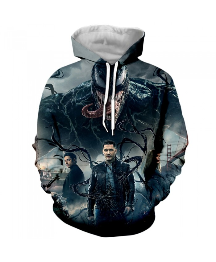 Venom Hoodies Men Women Sweatshirts 3D Printed Hoodie Hip Hop Pullover Hooded Casual Streetwear Tops A