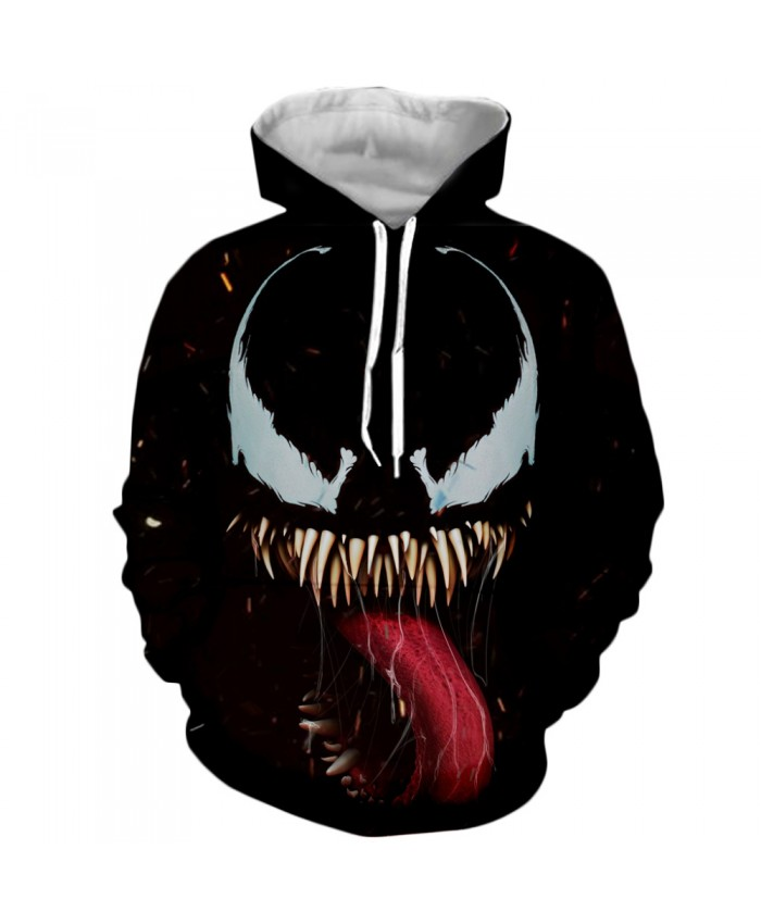 Venom Hoodies Men Women Sweatshirts 3D Printed Hoodie Hip Hop Pullover Hooded Casual Streetwear Tops C